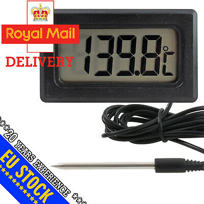 Battery Panel Thermometer 3m Cable Pointed Probe -50 +150 °C Electronic 46x27 • 12.99£