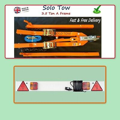 Solo Tow A Frame 3.5 Ton Rec Pro Heavy Duty Frame With Tow Board 1.215 10m Cable • 255£