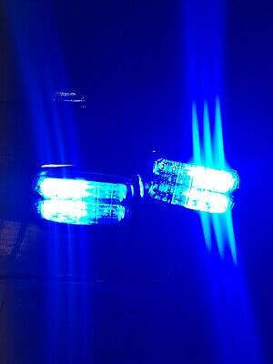 Whelen Led Blue/white Flashing Pair  Lights  • 31£
