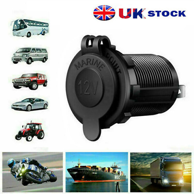 12V Car Vehicle Cigar Cigarette Lighter Female In-Line Socket UK Plug Connector • 3.69£