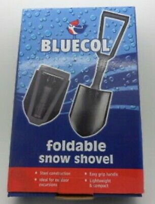 Bluecol Foldable Snow Shovel Lightweight Steel Compact With Storeage Bag  • 8.49£