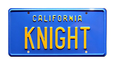 Celebrity Machines Knight Rider | KNIGHT | Metal Stamped License Plate • 17.88£