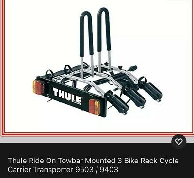 Thule 9403 Ride On Towbar Mounting 3 Bike Carrier • 100£