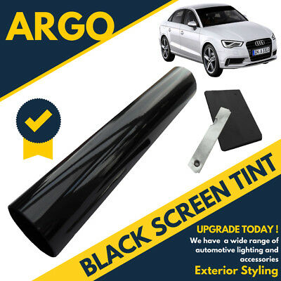 Black Sun Visor Window Screen Windshield Film Tint Strip Protect Shade No Glare • 5.49£