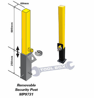 Lift Out Parking Post, Security Post, Driveway Bollard, Car, Caravan, Removable • 36.95£