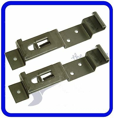 Trailer Number Plate Clips / Holder Spring Loaded Stainless Steel - ONE PAIR • 3.28£