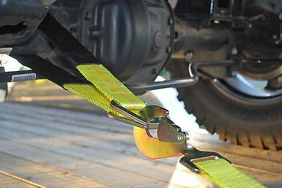 Heavy Duty Axle Recovery Strap Car Transporter Strap 3 Ft D-Rings • 14.95£