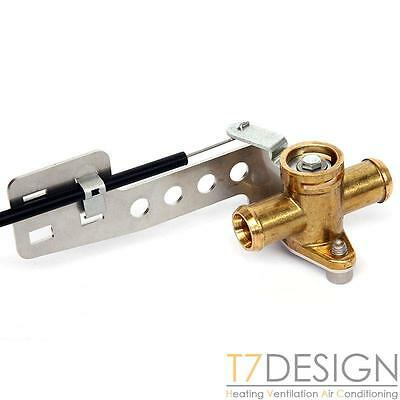 Brass Heater Valve 16mm (5/8 ) Pull To Close Bowden Operated, Kit Race Rally Car • 23.50£