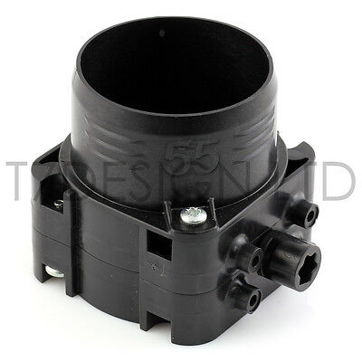 ∅ 55mm Piggyback HVAC Butterfly Air Valve / Junction, Heater, AC, Ducted • 14£