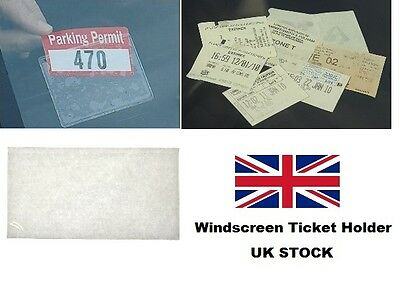 Self Adhesive Backed Windscreen Ticket Holder For Parking Permit Badge  • 1.59£