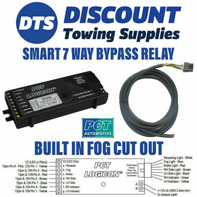 Universal 7 Way Bypass Relay PCT ZR2500 Towing Interface Inc Fog Cut Out • 22.95£