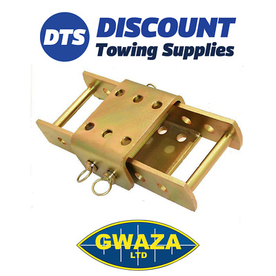 Land Rover Extra Long 3.5T Towbar Trailer Adjustable Height Coupling Drop Plate • 54.95£