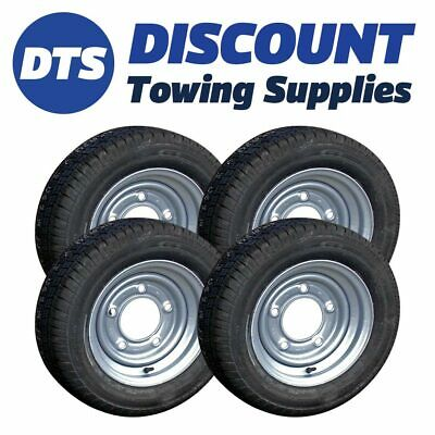 155/70R12 Kenda Master Trailer Wheels & Tyres (x4) 5 Stud 6.5  For Ifor Williams • 279.95£