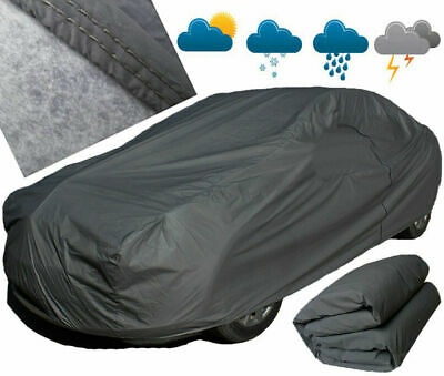 Waterproof Car Cover 2 Layer Heavy Duty Cotton Lined UV Protection - Size Large • 36.95£