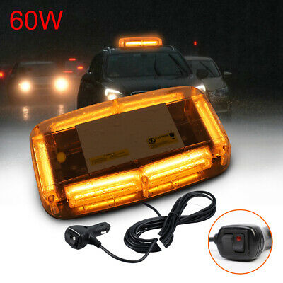 6 LEDs Amber Warning Strobe Recovery Light Car Roof Flashing Bar Beacon Magnetic • 14.99£