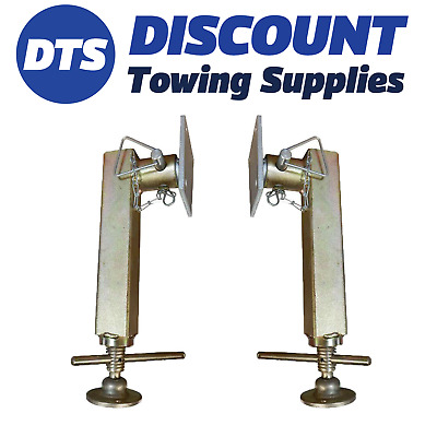 Fits Ifor Williams P1114 - Propstand Kit - Trailer Jack - Stabilizer Leg X 2 • 46.95£