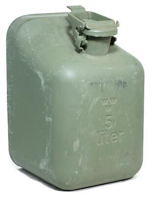 Genuine NEW Swedish Army Surplus Metal 5 Litre Petrol Jerry Can • 21.99£