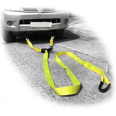 Recovery Bridle Strap & Shackles 4x4 Towing Winch Tow Off Road • 44.95£