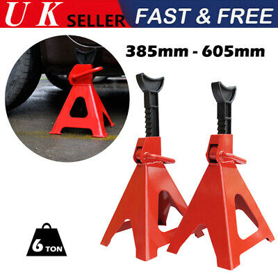 1 Pair 6 Ton 6T Heavy Duty Axle Stands Car Auto Lifting Support Floor Jack Rack • 27.99£