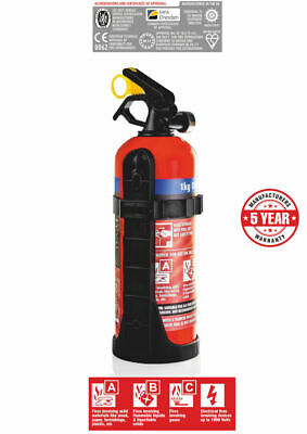 E-Tech Engineering 1kg Dry Powder Fire Extinguisher For Car/Van/Track Day • 17.95£