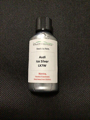 Audi Ice Silver LX7W 30ml Touch Up Paint+Brush Quality Scratch Stone Chip Repair • 5.99£