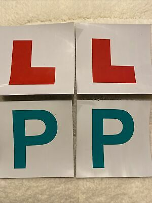 Magnetic L & P Plates For Learner Drivers Cars Learning And Passed Plates 2 Each • 3.99£