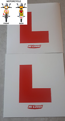 L Plate Hard Plastic Motorcycle Learner Legal L Plate Motorcycle Scooter   • 3.40£
