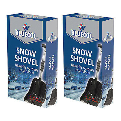 2 X Bluecol Extendable Telescopic Large Snow Winter  Shovel Spade Car Emergency  • 13.99£