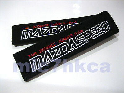 2x Soft Car Seat Belt Cushion Cover Pads For MAZDASPEED Mod Mazda (UK Stock) • 6.99£