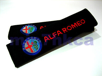 2x Soft Car Seat Belt Cushion Shoulder Cover Pads For ALFA ROMEO (UK Stock) • 6.99£