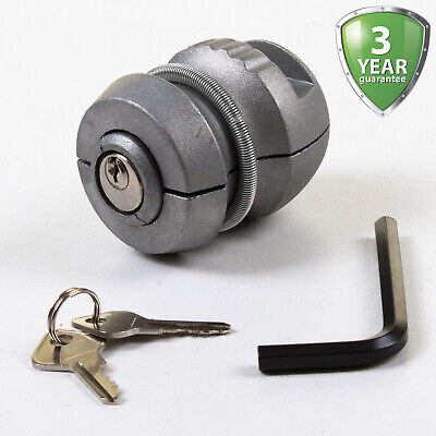 Insertable Trailer Hitch Lock Heavy Duty Coupling Security Caravan Tow Ball Lock • 10.99£