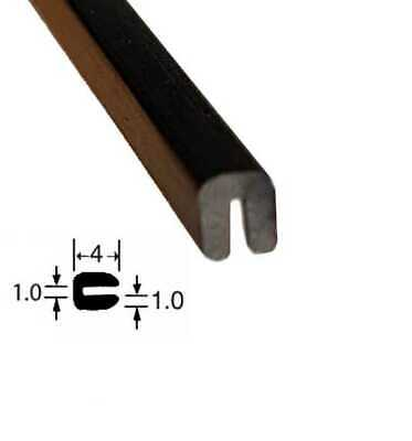 Small BLACK Rubber U Channel Edging Trim Seal 4mm X 3mm • 3.99£