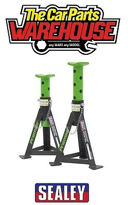 Sealey AS3G GREEN HD Axle / Jack Stands Pair 3 Tonne / Ton Capacity Per Stand • 39.89£