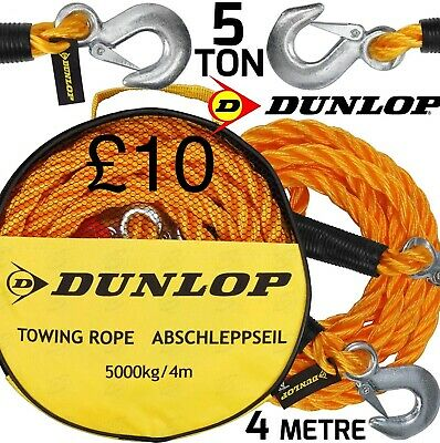 Dunlop Towing Rope 5000 Kg 4 Metre • 10£