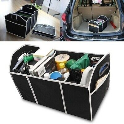 2-in-1 Car Boot Organizer For Tidy Shopping | Collapsible Trunk Storage Bag • 5.95£