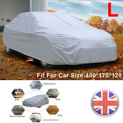 1x Full Size Large Car Cover UV Protection Waterproof Breathable Universal  • 12.99£