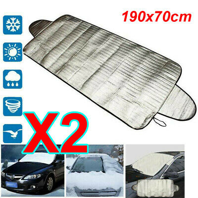 2X Car Windscreen Windshield Frost Cover Ice Snow Shield Front Window Protector • 6.99£