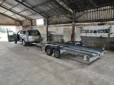 Car Transport Trailer - Twin Axle - LED Lights - Ramps • 1,450£