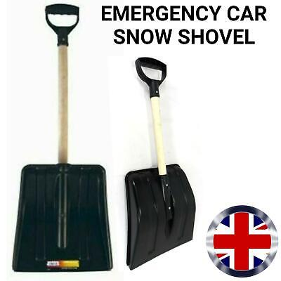 Car Snow Shovel Small Emergency Boot Spade Wooden & Plastic Scoop • 6.79£