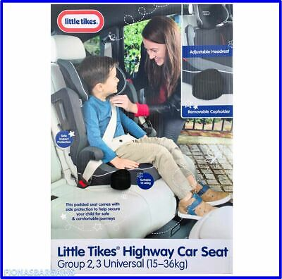 NEW Little Tikes Child Car Safety Seat Group 2,3 (15-36 Kgs) Adjustable Headrest • 34.95£
