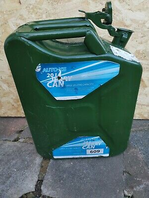 20L Fuel Can Wide Mouth 20 Litre Diesel/Petrol Jerry Can, Military, Army, Green • 8.50£
