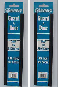 Car  Door Edge Protector Strip 4 X 12  Door Protector Black 2 Pairs Doorguard • 2.39£