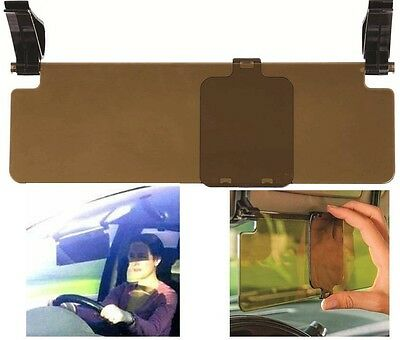 Car Sun Visor Extension Clip On Glare Reducer Tinted Perpsex With Slider Panel  • 8.55£