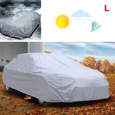 Car Cover UV Protection Waterproof Breathable Medium Size L Universal Grey UK • 14.79£
