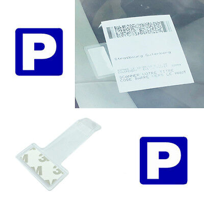 Car Windscreen Park Parking Ticket Clip Work Permit Holder Center Parcs Entrance • 1.69£