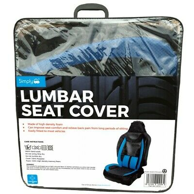 Simply Blue/Black Lumbar Seat Cover - Free Delivery • 16.99£