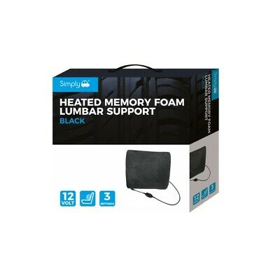 Simply Black Heated Memory Foam Lumb - Free Delivery • 27.99£