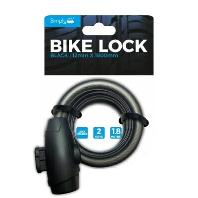 Simply 4.5Mm Black 1.8M Lock With Bracket - Free Delivery • 10.99£
