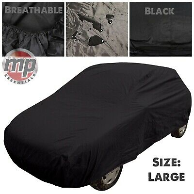 Black Indoor & Outdoor UV Rain Frost Breathable Full Car Cover To Fit Ford Focus • 23.99£