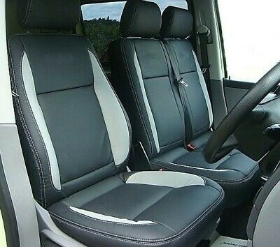 Vw Transporter T5  Custom Made  Leatherette Seat Covers With 2 Ar . 50% Off  Rrp • 86.99£